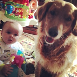 these two will be forever friends!! Sadie loves her baby!!!