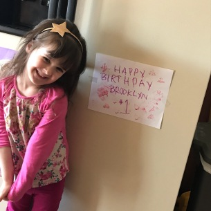 birthday sign she made for sissy