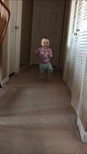 my walking little birthday girl