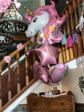 the huge balloons were a big hit!