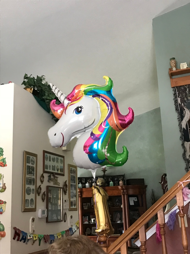 She would say neigh when looking at this balloon!