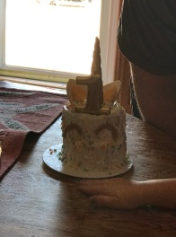 the smash cake I made just for her to dig into.